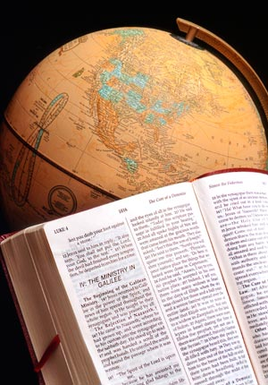 Globe with Bible